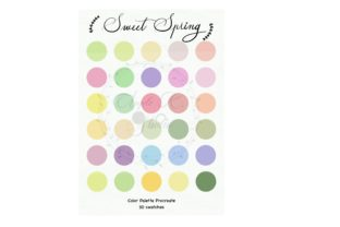 Sweet Spring Color Palette for Procreate Graphic Coloring Pages & Books Kids By koravee.k