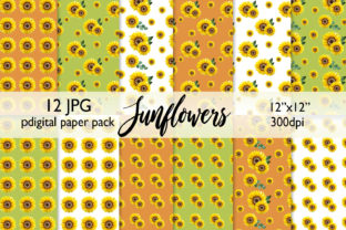 Watercolor Sunflower Background Graphic Backgrounds By CaraulanStore
