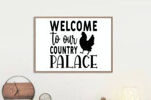Welcome to Our Country Palace Svg Graphic Illustrations By VectorEnvy 1