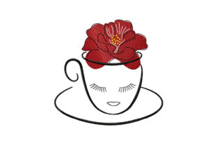 Print on Demand: Сup of Hibiscus Tea Tea & Coffee Embroidery Design By EmbArt