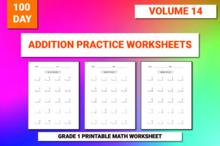 Print on Demand: 100 Printable Addition Worksheet Vol-14 Graphic 1st grade By bengalcanvas