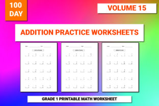 Print on Demand: 100 Printable Addition Worksheet Vol-15 Graphic 1st grade By bengalcanvas