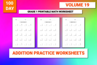Print on Demand: 100 Printable Addition Worksheet Vol-19 Graphic 1st grade By bengalcanvas 1