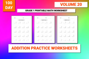 Print on Demand: 100 Printable Addition Worksheet Vol-20 Graphic 1st grade By bengalcanvas