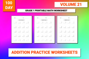Print on Demand: 100 Printable Addition Worksheet Vol-21 Graphic 1st grade By bengalcanvas
