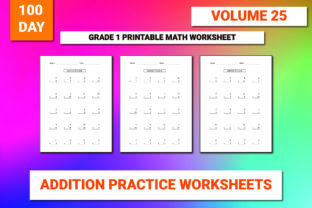 Print on Demand: 100 Printable Addition Worksheet Vol-25 Graphic 1st grade By bengalcanvas