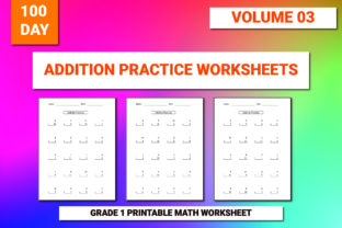 Print on Demand: 100 Printable Addition Worksheet Vol-3 Graphic 1st grade By bengalcanvas
