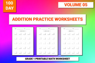 Print on Demand: 100 Printable Addition Worksheet Vol-5 Graphic 1st grade By bengalcanvas