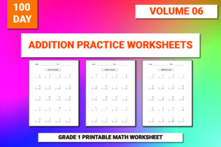Print on Demand: 100 Printable Addition Worksheet Vol-6 Graphic 1st grade By bengalcanvas
