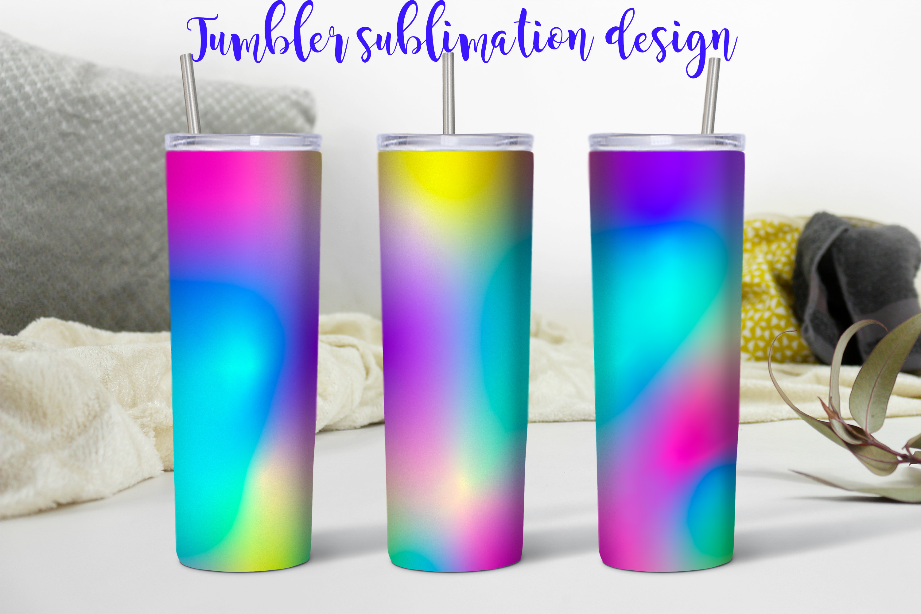 Abstract Neon Sublimation Tumbler SVG File