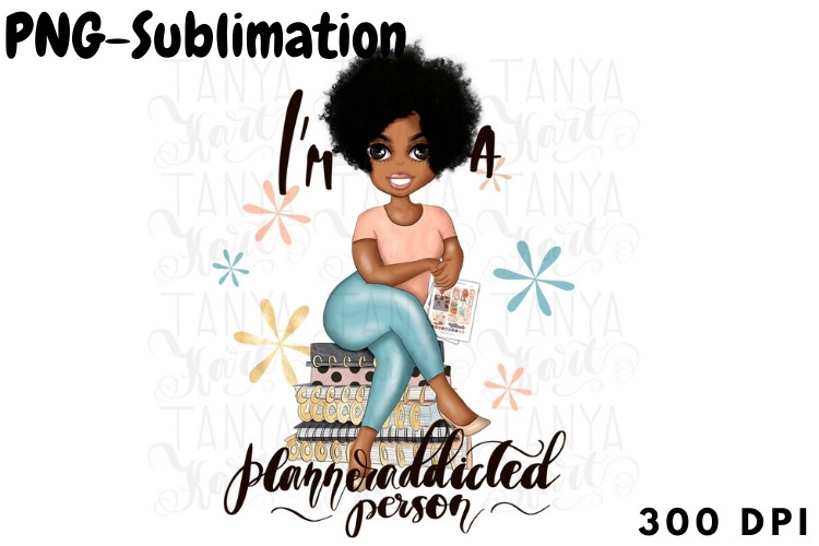 African American Girl Png Sublimation SVG File