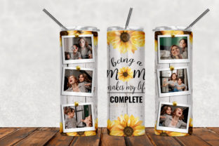 Being a Mom Makes My Life Complete Graphic Patterns By Army Custom