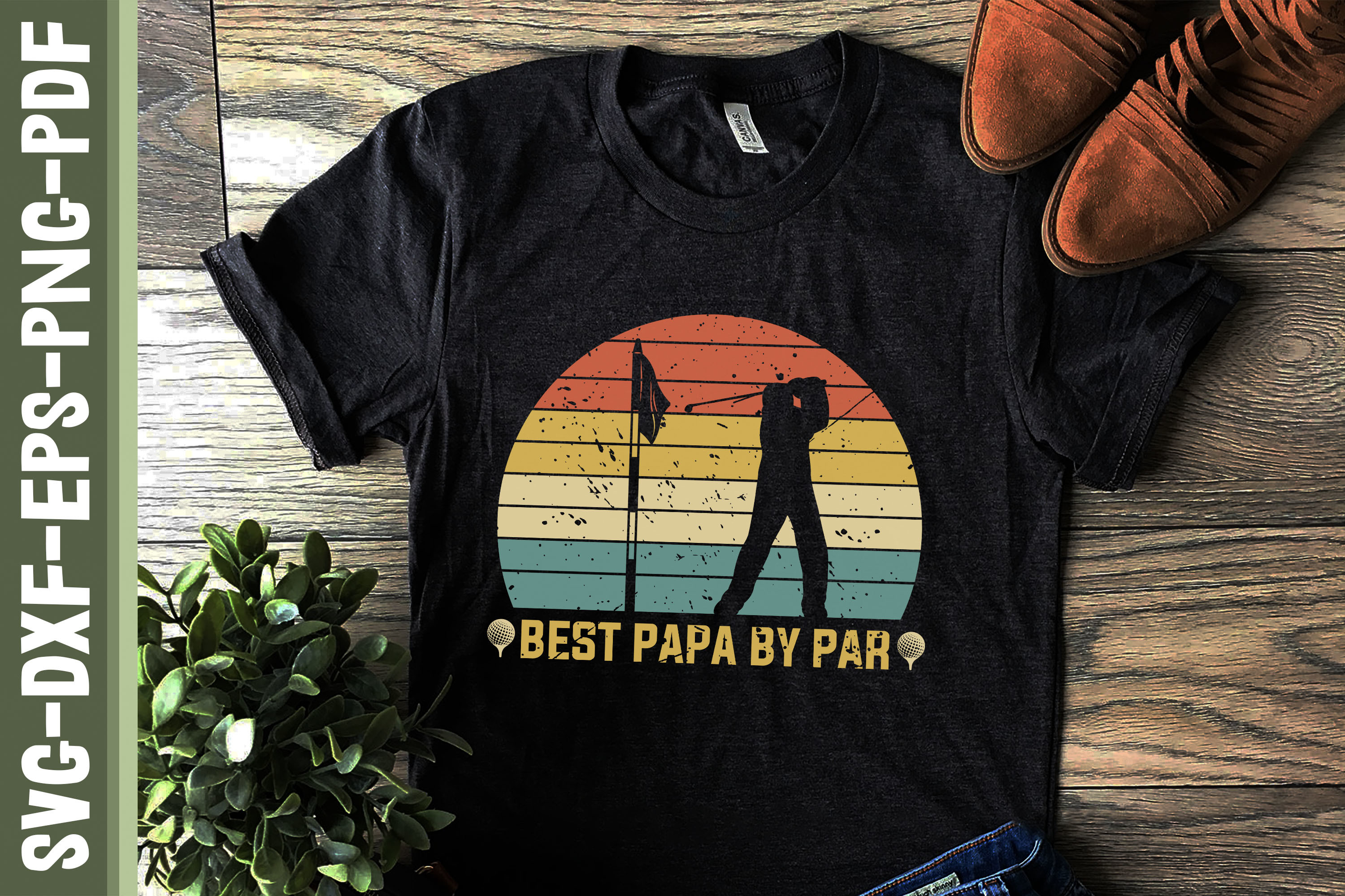 Best Papa by Par Father's Day Gift SVG File