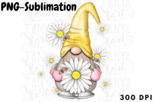 Daisy Gnome | Sublimation Design Graphic Illustrations By Tanya Kart 1