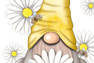 Daisy Gnome | Sublimation Design Graphic Illustrations By Tanya Kart 2