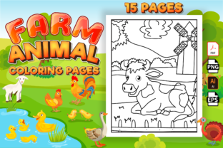 Print on Demand: Farm Animals Coloring Pages for Kids Graphic Coloring Pages & Books Kids By Kristy Coloring