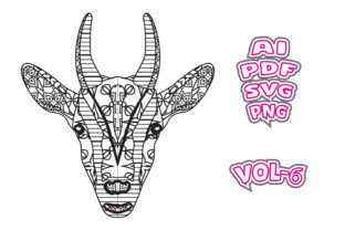 Print on Demand: Goat Animal Face Coloring for Adult Graphic Coloring Pages & Books Adults By NGISED