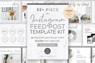 Instagram Feed Post Kit | Linen Graphic Graphic Templates By Thirty One Palms Studio