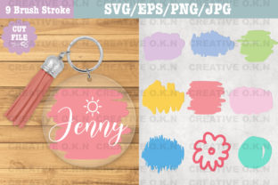 Keychain Paint Brush Stroke Bundle Svg. Graphic Crafts By CREATIVE O.K.N