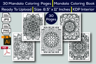 Print on Demand: Mandala Coloring Book KDP Interior Graphic Coloring Pages & Books Adults By KDP Interior 24