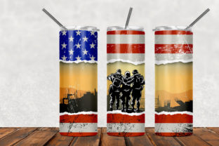 Military Army 20oz Skinny Tumbler Graphic Patterns By Army Custom 1