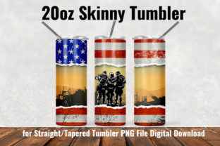 Military Army 20oz Skinny Tumbler Graphic Patterns By Army Custom 2