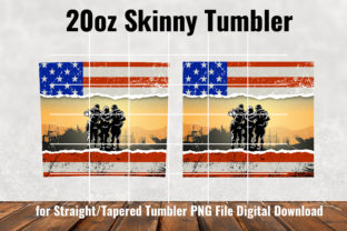 Military Army 20oz Skinny Tumbler Graphic Patterns By Army Custom 3