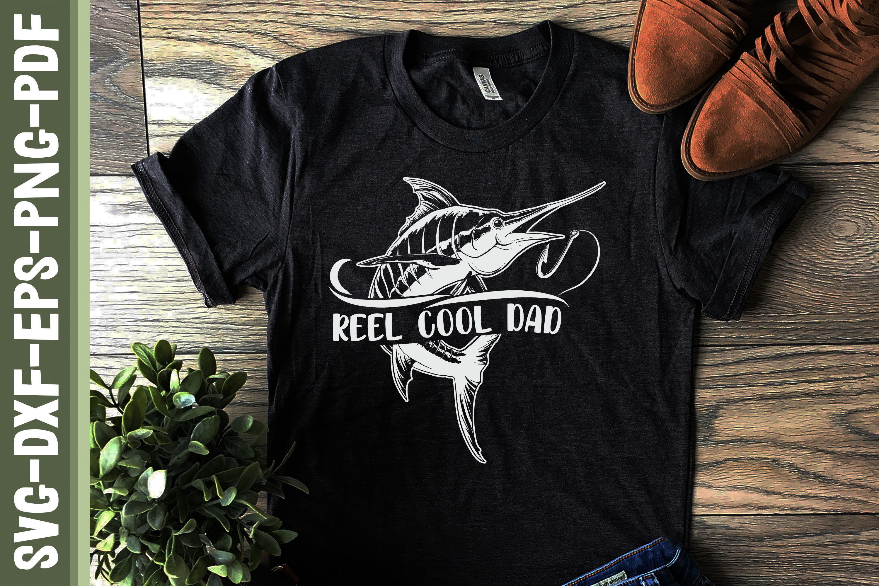 Reel Cool Dad Father's Day Gift SVG File