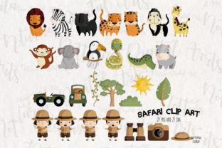 Print on Demand: Safari Clipart   Set of 27 Graphic Coloring Pages & Books Adults By NotturnoClipArt 2