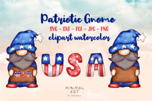 Print on Demand: Patriotic Gnomes Clipart Png 4th July Graphic Illustrations By Momixzaa 2