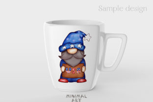 Print on Demand: Patriotic Gnomes Clipart Png 4th July Graphic Illustrations By Momixzaa 4