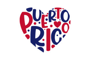 Heart Puerto Rico Designs & Drawings Craft Cut File By Creative Fabrica Crafts