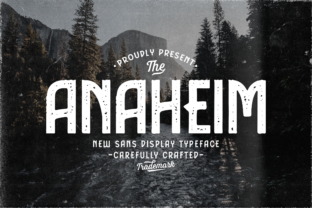 Print on Demand: Anaheim Display Font By typotopia