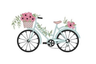Bicycle Summer Embroidery Design By NinoEmbroidery