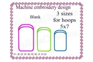 Blank Case for Cell Phone Accessories Embroidery Design By ImilovaCreations