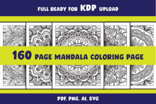 Print on Demand: Coloring Page Svg Bundle Mandala Adult Graphic Coloring Pages & Books Adults By NGISED