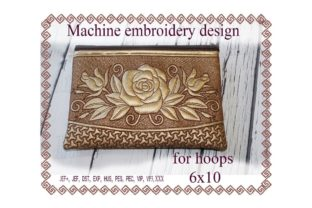 Cosmetic Bag in the Hoop Sewing & Crafts Embroidery Design By ImilovaCreations 1
