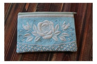 Cosmetic Bag in the Hoop Sewing & Crafts Embroidery Design By ImilovaCreations 2