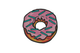 Creamy Donut Dessert & Sweets Embroidery Design By DigitEMB