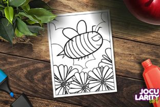 Cute and Kawaii Bee Coloring Page Graphic Coloring Pages & Books Kids By JocularityArt 2