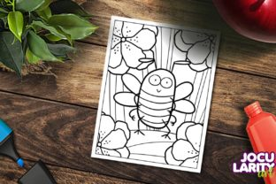 Cute and Kawaii Bee Coloring Page Graphic Coloring Pages & Books Kids By JocularityArt 3