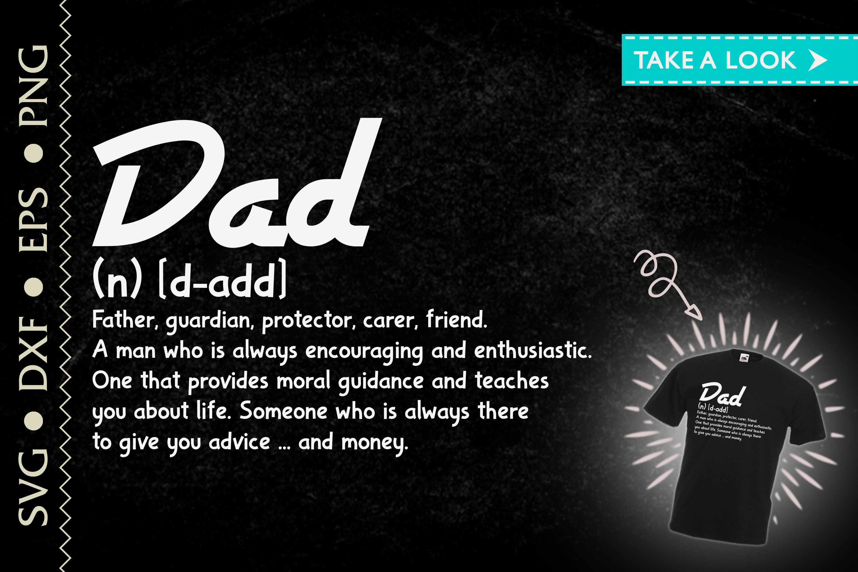 Dad Definition Father's Day Gift SVG File