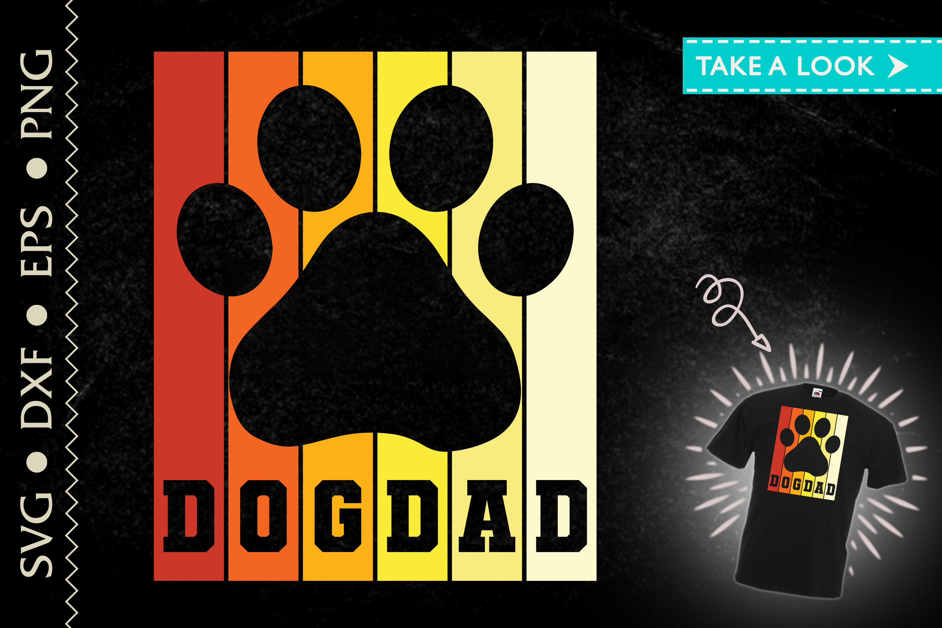 Dogdad Dog Dad Father's Day Gift SVG File