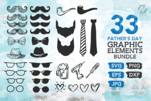 Print on Demand: Fathers Day Graphic Elements Bundle Graphic Crafts By nesdigiart 1