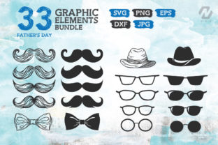 Print on Demand: Fathers Day Graphic Elements Bundle Graphic Crafts By nesdigiart 2