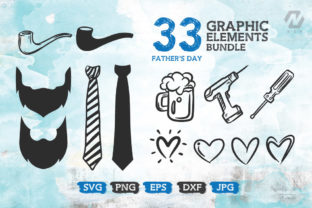 Print on Demand: Fathers Day Graphic Elements Bundle Graphic Crafts By nesdigiart 3