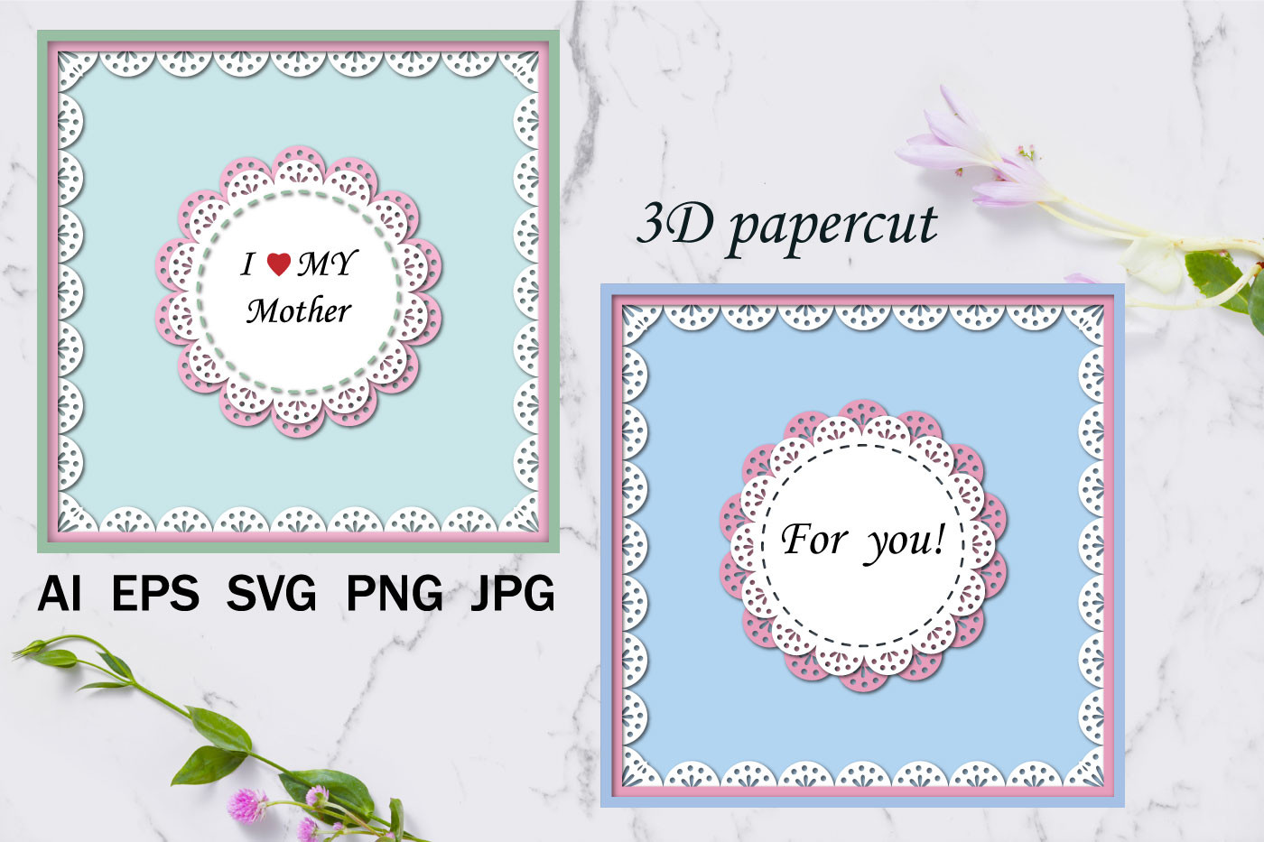 Greeting Cards, Paper Cutting Cards SVG File