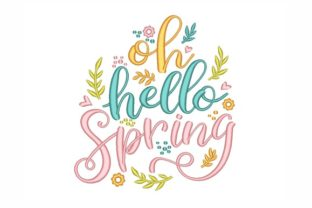Hello Spring Spring Embroidery Design By NinoEmbroidery