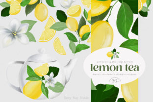 Print on Demand: Lemon Gouache Illustrations and Patterns Graphic Illustrations By Busy May Studio