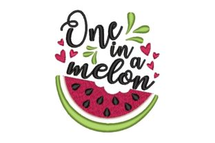 One in a Melon Summer Embroidery Design By NinoEmbroidery